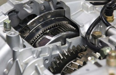 Gearbox in a heavy duty transmission